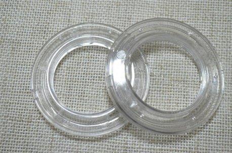 Люверсы круглые 35 мм, прозрачные недорого