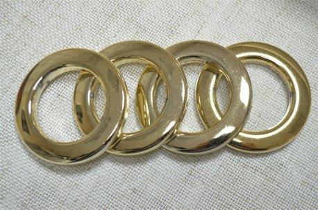 Люверсы круглые 35 мм, золото блестящее недорого