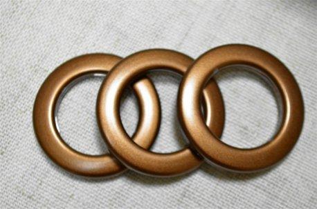 Люверсы круглые 35 мм, шоколад недорого