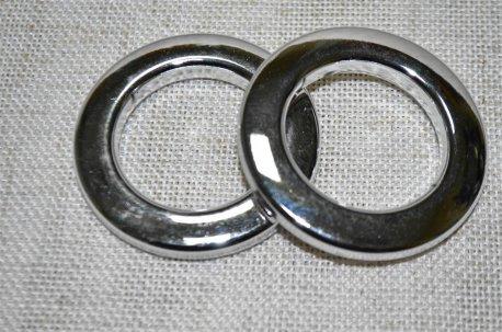 Люверсы круглые 35 мм, цвет хром недорого