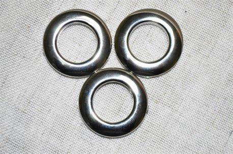 Люверсы круглые 28 мм, хром  недорого