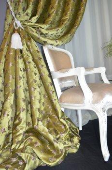 Портьера Ампирия-ромб оливка