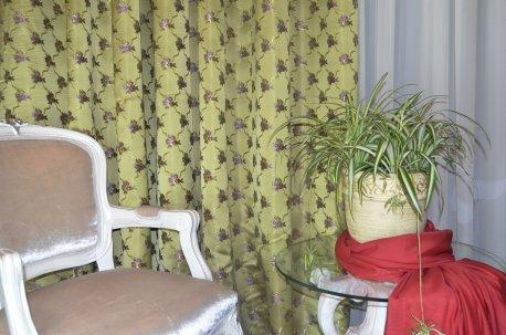 Портьера Ампирия-ромб оливка недорого