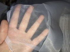 Готовый тюль молочного цвета из прозрачной органзы