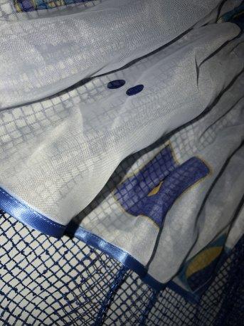 Ламбрекен синий с сеточкой недорого