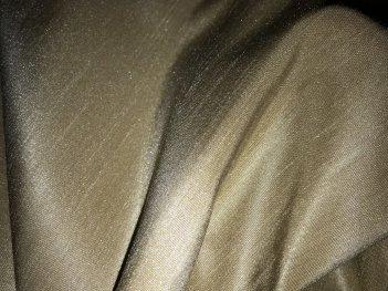Готовый комплект штор песочного цвета (Две портьеры и тюль)