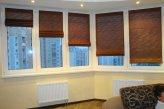 Римские шторы коричневого цвета