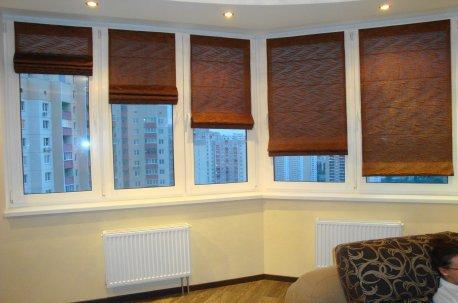 Римские шторы коричневого цвета недорого