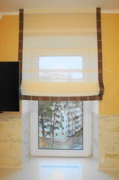 Римские шторы из прозрачной гардины