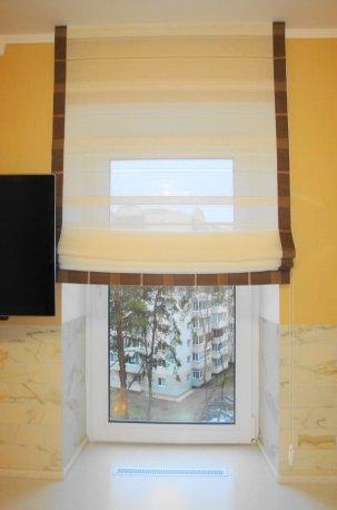Римские шторы из прозрачной гардины недорого