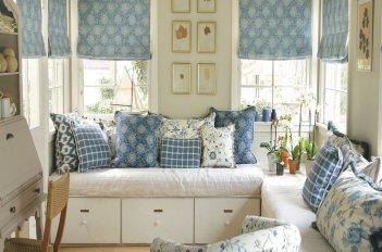 Римские шторы в интерьере в стиле прованс