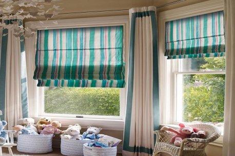 Римские шторы из полосатой ткани недорого