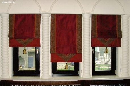 Римские шторы с декоративной отделкой по краям недорого