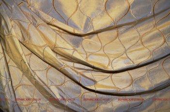 Готовая штора на люверсах Калькутта золотая
