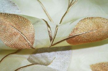 """Гардина """"Листья Хойя"""" оливковая"""