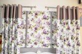 Шторы на люверсах из ткани в стиле прованс