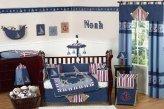 Сине - голубые шторы в комнате подростка