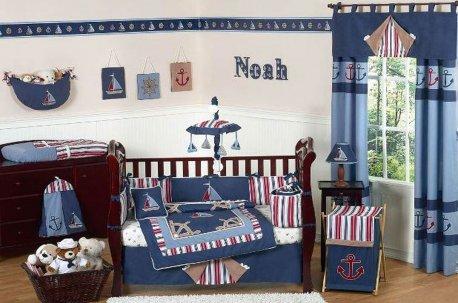 Сине - голубые шторы в комнате подростка недорого