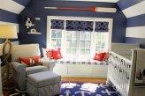 Детская комната в морском стиле с римскими шторами