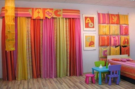 Яркий радостный комплект штор в детскую комнату недорого