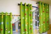 Шторы в детскую со скошенными окнами