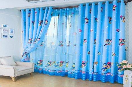 Шторы с принтом в детском стиле - шторы в детскую комнату недорого