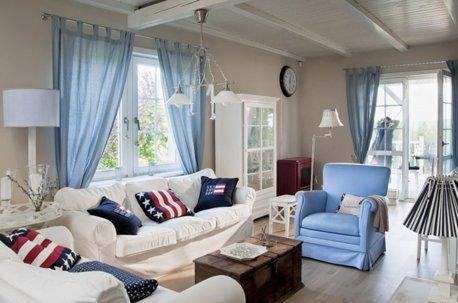 Голубые шторы в детскую комнату недорого