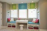 Римские шторы в детской комнате - чередование цветов