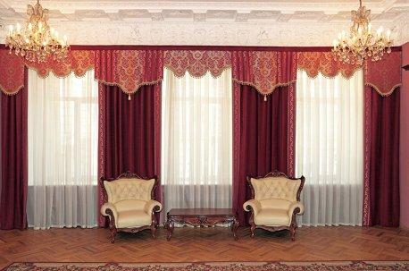 Нарядные шторы в кабинет сделают настроение лучше! недорого
