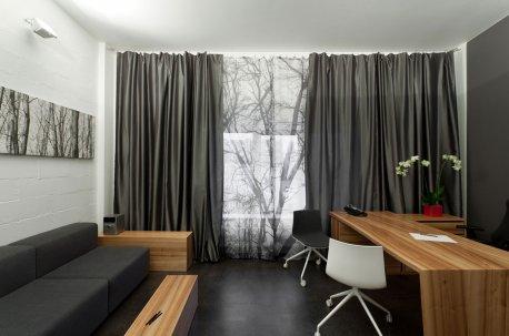Современные шторы в кабинете недорого