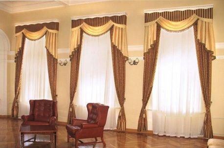 Нарядные шторы в кабинет недорого