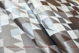 Готовый комплект из двух штор на люверсах Домино серо-бежевый