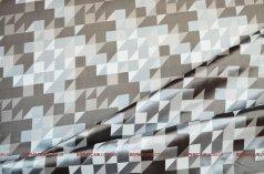 Готовый комплект из двух штор Домино серо-бежевый
