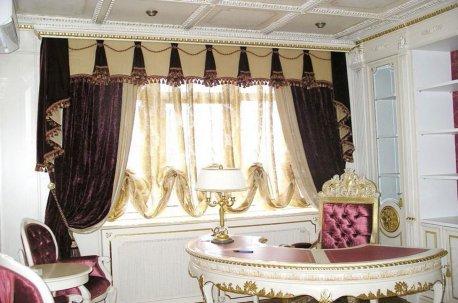Нарядные шторы в кабинете недорого