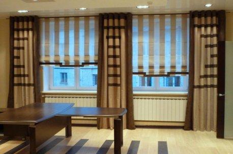 Авторский дизайн штор в современном кабинете недорого