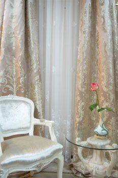 """Портьера """"Лацио"""", цвет чайная роза"""