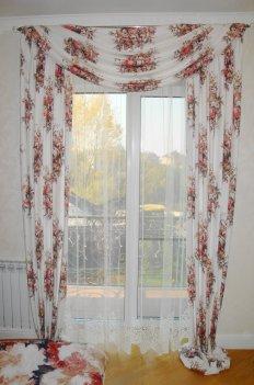 Шторы из ткани в стиле прованс