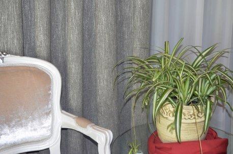Портьера Ривьера серо-зеленая недорого