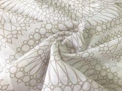 Тюль батист белый с песочным узором