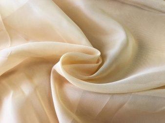 Тюль Вуаль горчичного цвета