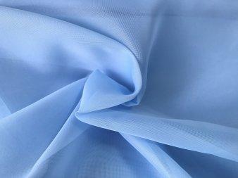 Тюль Вуаль голубого цвета