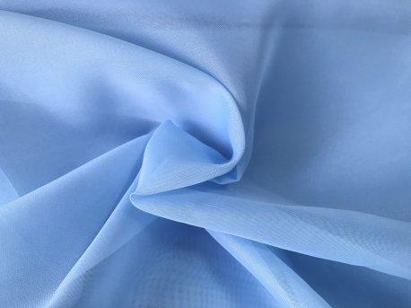 Тюль Вуаль голубого цвета недорого