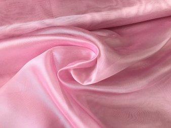 Органза с жемчужным отливом ярко-розовая