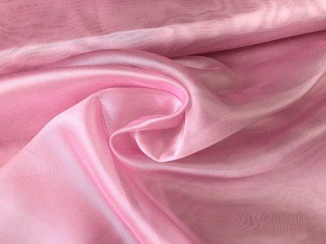Органза с жемчужным отливом ярко-розовая недорого