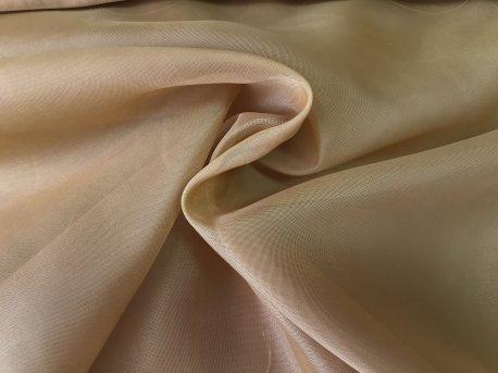 Тюль Вуаль темно-горчичного цвета недорого