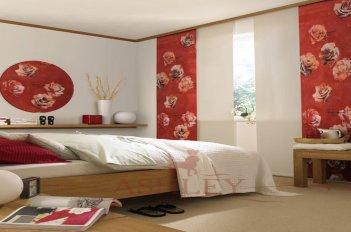 Японские шторы с цветочным рисунком