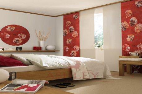 Японские шторы с цветочным рисунком недорого